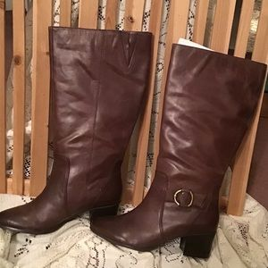 Land's End🌲Wide Calf Boots in Espresso